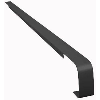 Unika 40mm Black Aluminium Worktop Butt Joint 6mm Radius