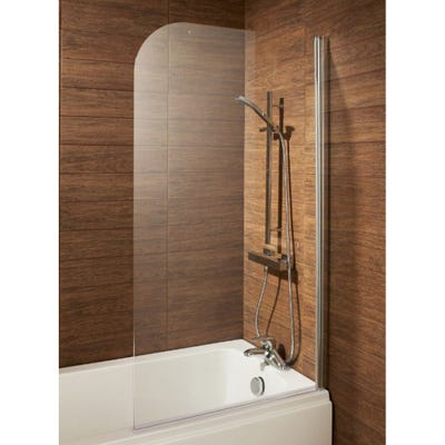 Alliance Leven Round Profile Bath Screen 800mm Chrome