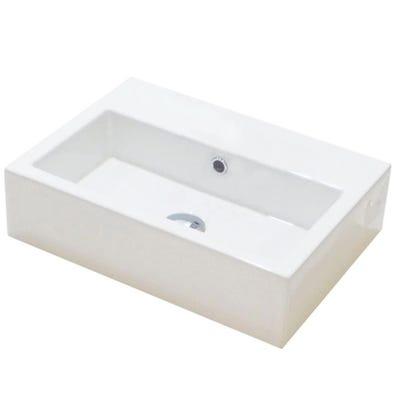 Saneux Matteo 50cm x 37cm 0 Tap Hole Washbasin White