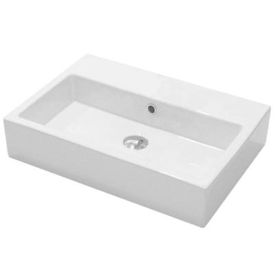 Saneux Matteo 60cm x 42cm Washbasin No Tap Hole White