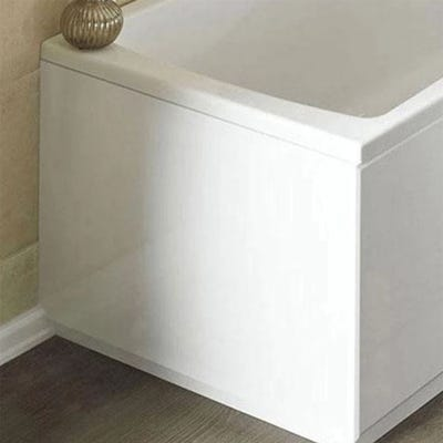 Kartell Plain 700mm Acrylic Bath End Panel White