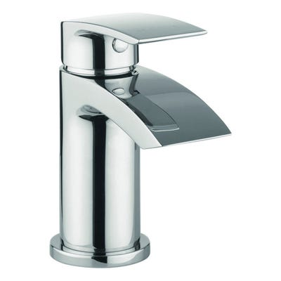 Crosswater Flow Mini Basin Mixer Tap & Waste Chrome