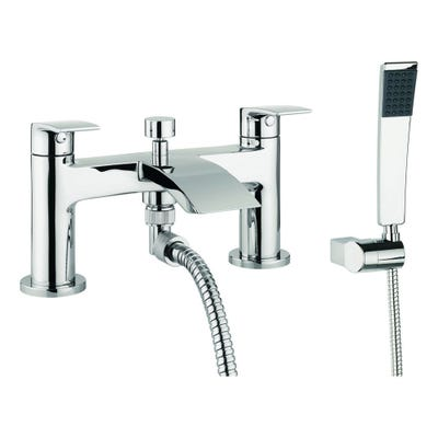 Crosswater Flow Bath Shower Mixer Tap With Kit Chrome