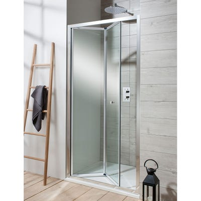 Crosswater Edge 1000mm Bifold Shower Door Silver
