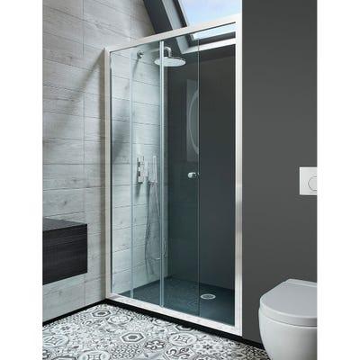 Crosswater Edge 1000mm Single Slider Shower Door Silver