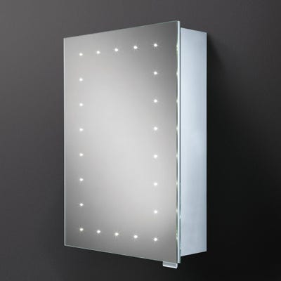 HIB Vogue Single Door LED Mirror Cabinet
