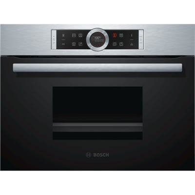 Bosch CDG634BS1B Serie 8 Compact Steam Oven Brushed Steel