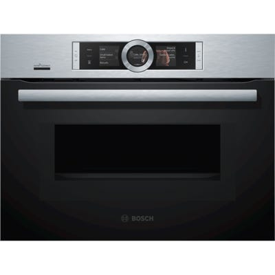 Bosch CMG656BS6B Series 8 Compact Combi Microwave Oven Brushed Steel