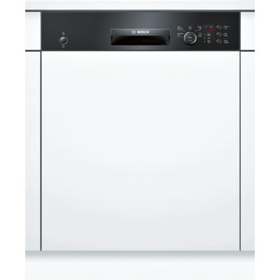 Bosch SMI50C16GB Serie 4 60cm Semi Integrated Dishwasher Black