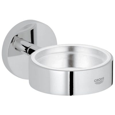 Grohe Essentials Glass/Soap Dish Holder Chrome