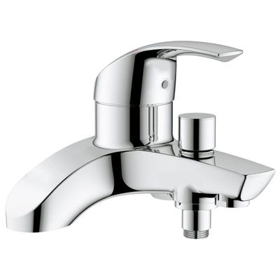 Grohe Eurosmart Single Lever Deck Mounted Bath Shower Mixer Tap Chrome