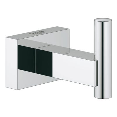 Grohe Essentials Cube Single Robe Hook Chrome