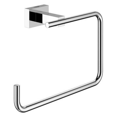 Grohe Essentials Cube Towel Ring Chrome