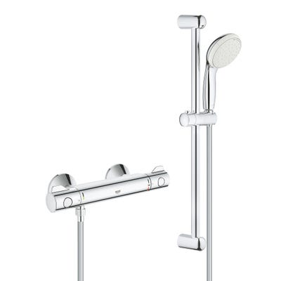 Grohe Grohtherm 800 Thermostatic Shower Mixer Chrome & Tempesta Shower Set