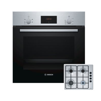 Bosch Oven & Gas Hob Pack Stainless Steel