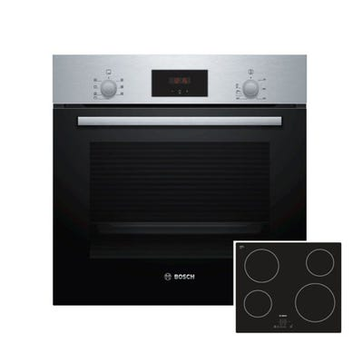 Bosch Oven & Ceramic Hob Pack Stainless Steel & Black