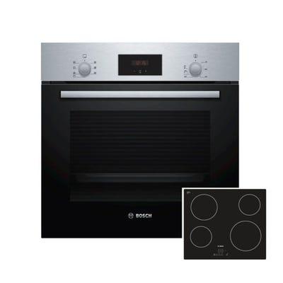 Bosch Oven & Ceramic Hob Pack Stainless Steel & Black