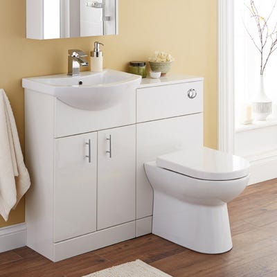 Kartell Back To Wall 500mm Toilet Unit Gloss White