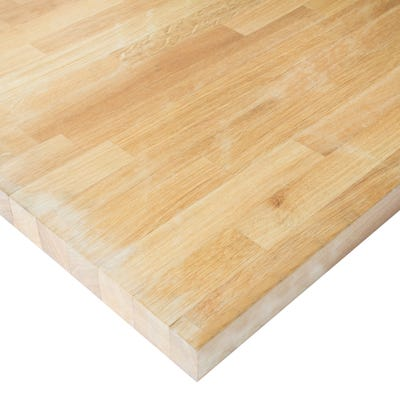 Prime Oak Unfinished 3000mm x 620mm x 40mm Solid Wood Worktop