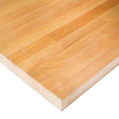 Prime Beech Unfinished 2000mm x 620mm x 40mm Solid Wood Worktop