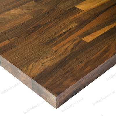 Euro Walnut Unfinished 3000mm x 620mm x 40mm Solid Wood Worktop