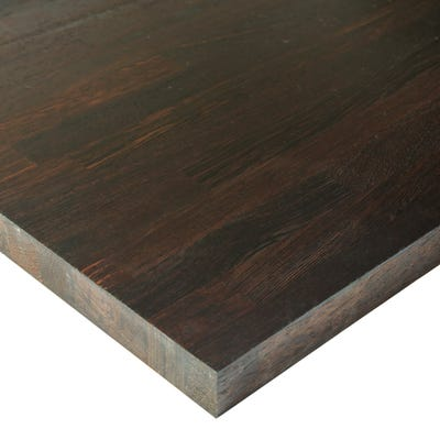Wenge Unfinished 2000mm x 620mm x 40mm Solid Wood Worktop