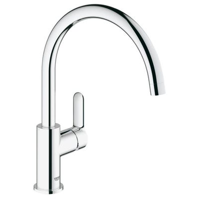 Grohe Bauedge Single Lever Kitchen Sink Tap Chrome