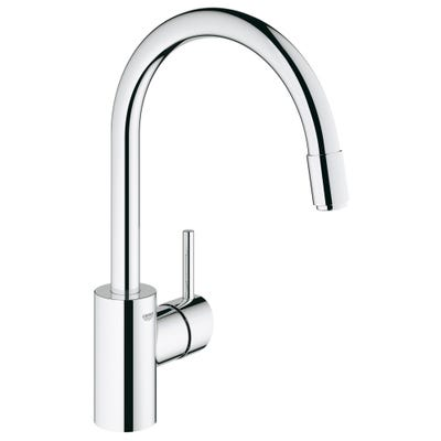 Grohe Concetto High Spout Kitchen Sink Tap & Pull Down Spray Chrome