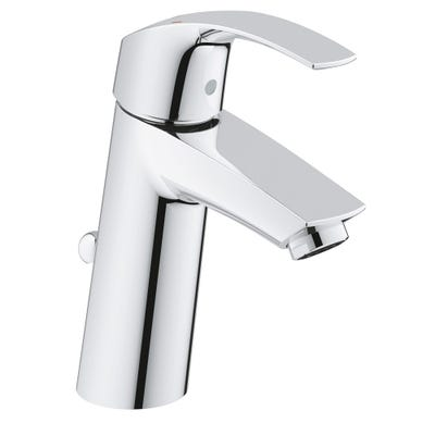 Grohe Eurosmart Medium High Spout Basin Mixer & Pop Up Waste Chrome