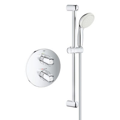Grohe Grohtherm 1000 New Shower Mixer Set & Grohe Rapido T Chrome