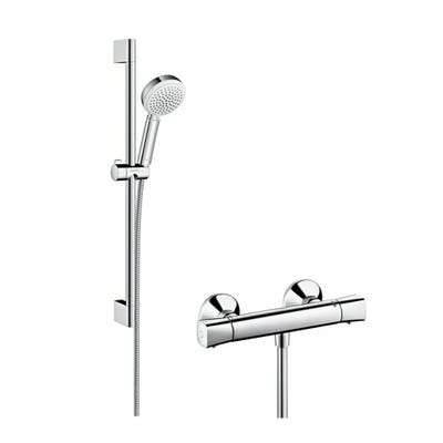 hansgrohe Crometta 100 Vario Combi Mixer Shower Set Chrome