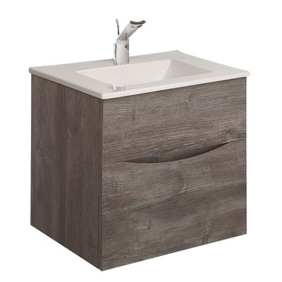 Crosswater Glide II Basin Unit 500mm Driftwood