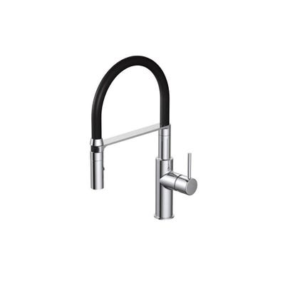 Teka Single Lever Pro Style Spray Kitchen Sink Tap Chrome / Black BTK306 TTM 110C