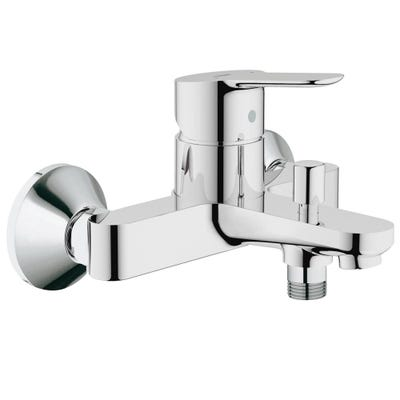 Grohe Bauedge Single Lever Bath Shower Mixer Tap Chrome