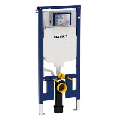Geberit 111.799.00.1 Duofix 1.14m High WC Frame & UP720 Sigma Cistern 8cm