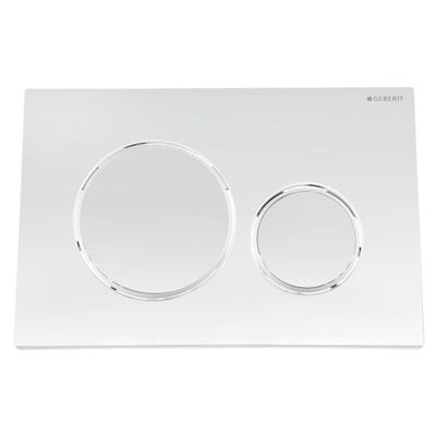 Geberit 115.882.KH.1 Sigma20 Dual Flush Plate Gloss Chrome/Matte