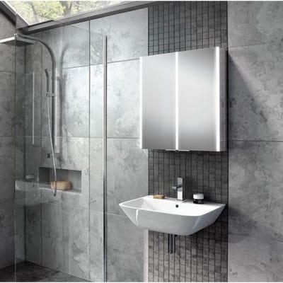 HIB Xenon 60 LED Mirror Cabinet
