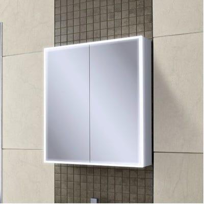 HIB Qubic 60 LED Mirror Cabinet