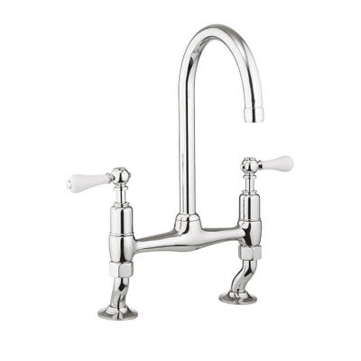 Crosswater Cucina Belgravia Deck Mounted Kitchen Sink Tap Chrome