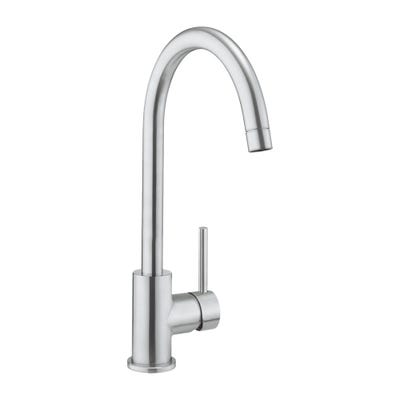 Crosswater Cucina Tropic Side Lever Kitchen Sink Tap Stainless Steel