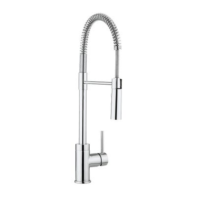 Crosswater Cucina Cook Side Lever Kitchen Tap & Flexi Spray Chrome