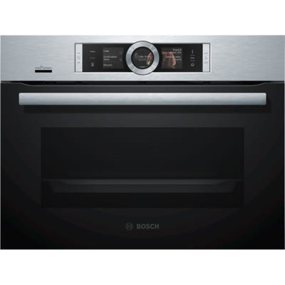 Bosch CSG656BS7B Serie 8 60cm Combination Compact Steam Oven S/Steel