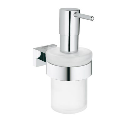 Grohe Essentials Cube Soap Dispenser With Holder Chrome