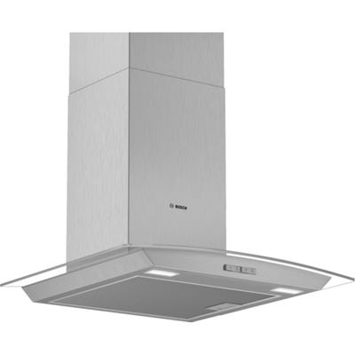 Bosch DWA64BC50B Serie 2 60cm Glass Chimney Extractor Hood