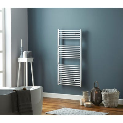 Towelrads Pisa Chrome Straight Towel Radiator 800 x 600mm