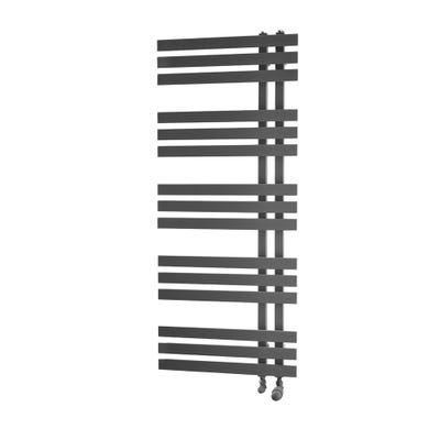 Towelrads Cobham Black Straight Towel Radiator 1200mm x 500mm