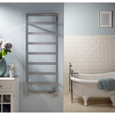 Towelrads Kensington Chrome Straight Towel Radiator 1300mm x 530mm