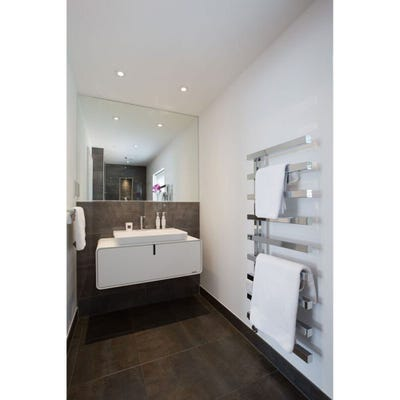 Towelrads Soho Chrome Straight Towel Radiator 795mm x 500mm