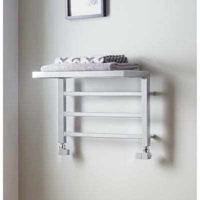 Towelrads Holyport Chrome Straight Towel Radiator 350mm x 500mm