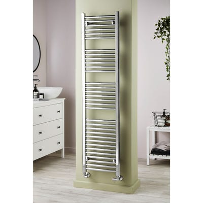 Towelrads Pisa Chrome Curved Towel Radiator 1200 x 500mm